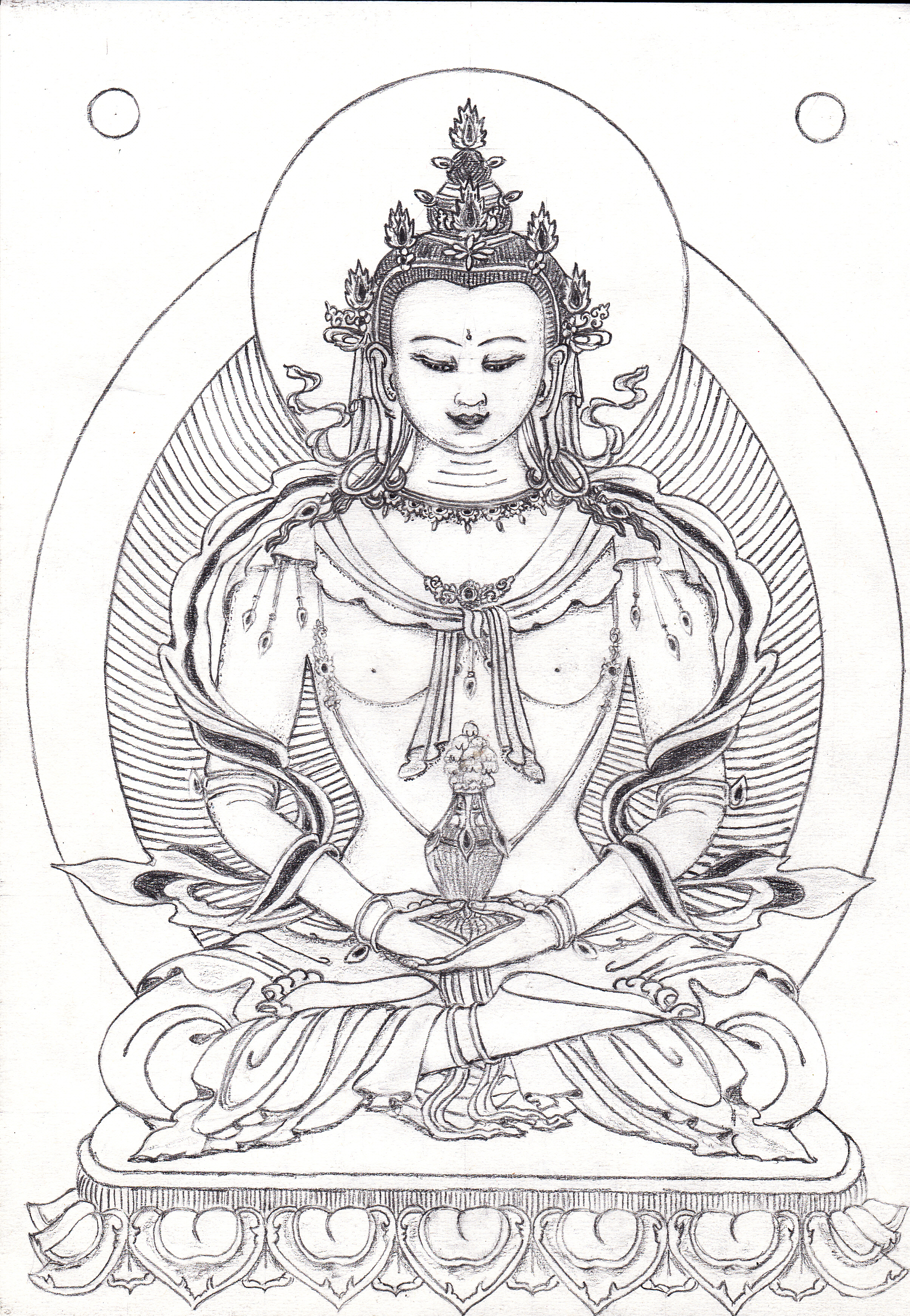 Buddha Face Line Drawing : Buddha face coloring pages
